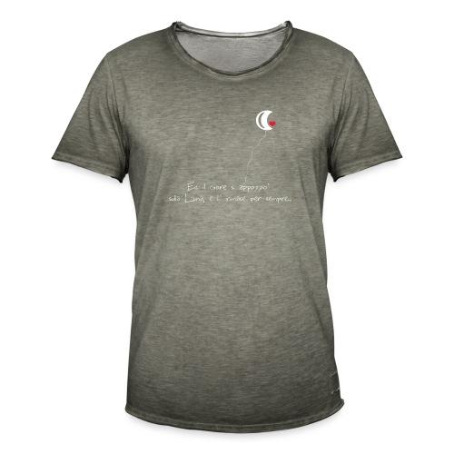 CUORE-E-LUNA - Maglietta vintage da uomo