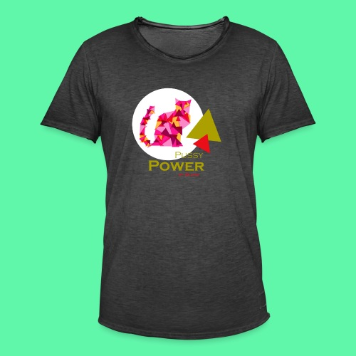 Pussy Power - Herre vintage T-shirt