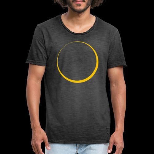 ECLIPSE - Yellow Sun - Maglietta vintage da uomo