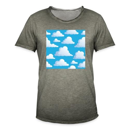 Cartoon_Clouds - Men's Vintage T-Shirt