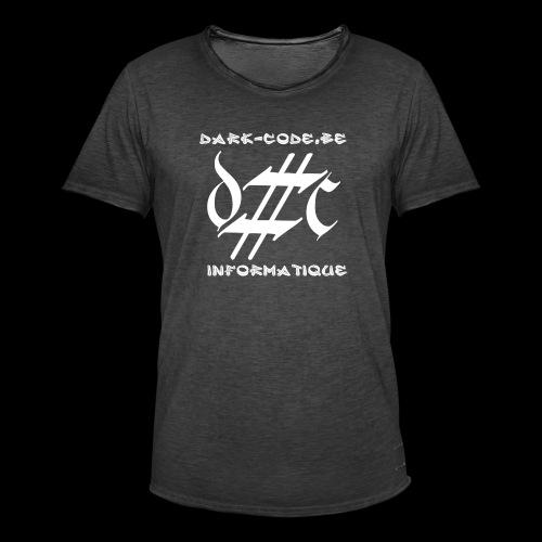 Dark-Code Gothic Logo - T-shirt vintage Homme