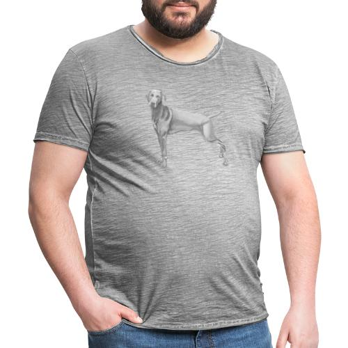 weimaraner - Herre vintage T-shirt