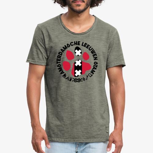 ALS witte cirkel lichtshi - Mannen Vintage T-shirt
