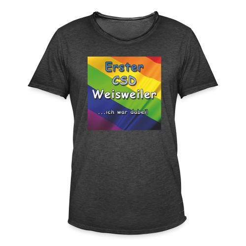 Erster CSD Weisweiler - Männer Vintage T-Shirt
