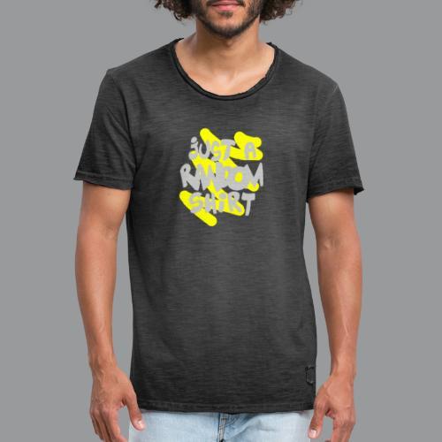 gewoon een willekeurig shirt - Mannen Vintage T-shirt