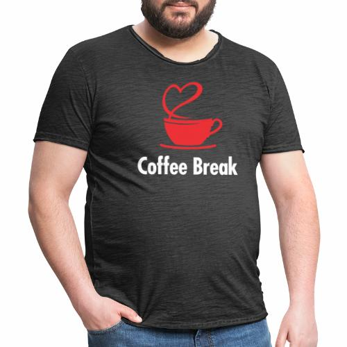 Coffee Break - Männer Vintage T-Shirt