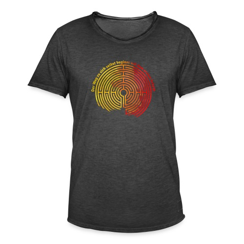 Der Weg zu sich selbst - Männer Vintage T-Shirt