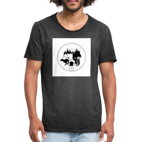 DogExploreEurope - Maglietta vintage da uomo