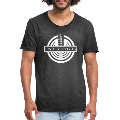 Tiny Records - White Logo - Herre vintage T-shirt
