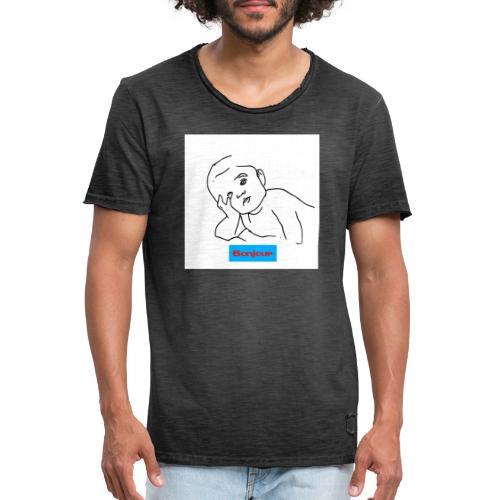 Bonjour - Männer Vintage T-Shirt