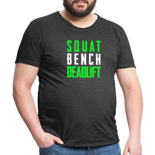Squat Bench Deadlift 2 Hell - Männer Vintage T-Shirt