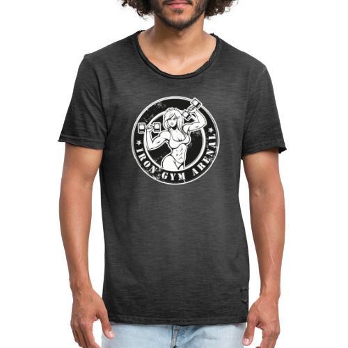 iron gym girl - Camiseta vintage hombre