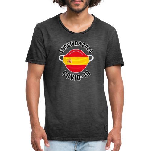 Survivor Covid-19 España - Camiseta vintage hombre