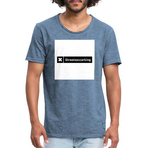 Streetsoccerking - Mannen Vintage T-shirt