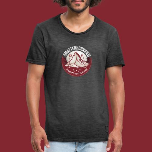 MatterhornView - Männer Vintage T-Shirt