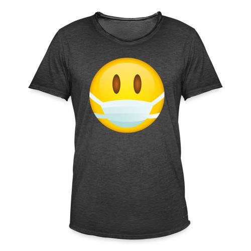 Smile mascarilla - Camiseta vintage hombre