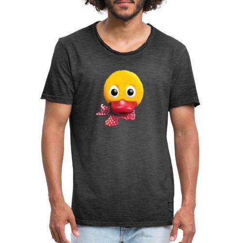 Schnatterinchen 3D - Männer Vintage T-Shirt