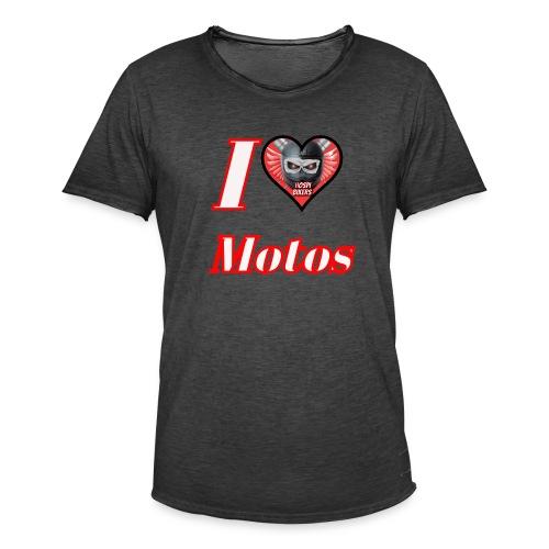 ilovemotos - Camiseta vintage hombre