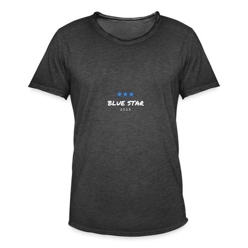 Blue Star - Männer Vintage T-Shirt