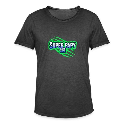 super papy 2020 - T-shirt vintage Homme
