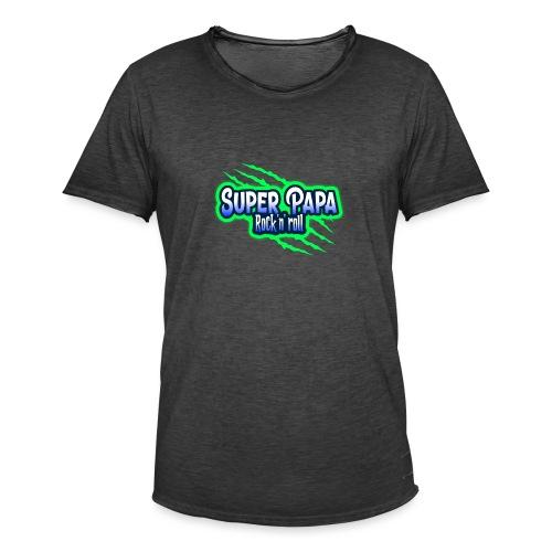 super papa rock'n' roll - T-shirt vintage Homme