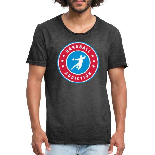 handball addiction - T-shirt vintage Homme