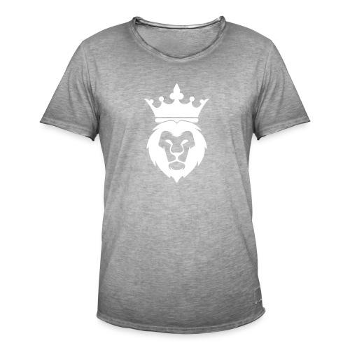 Lion_Logo_with_Crown_St--rre_bild_-white- - Vintage-T-shirt herr