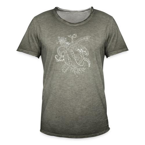 Fantasy hvid scribblesirii - Herre vintage T-shirt