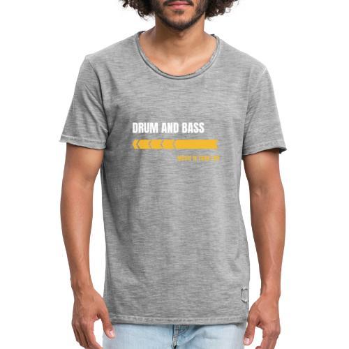 Drum & Bass - Maglietta vintage da uomo