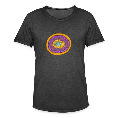 Mandala Pizza - Men's Vintage T-Shirt