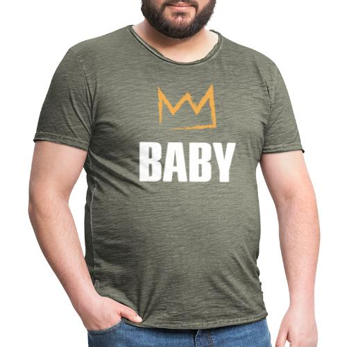 Baby mit Krone - Männer Vintage T-Shirt