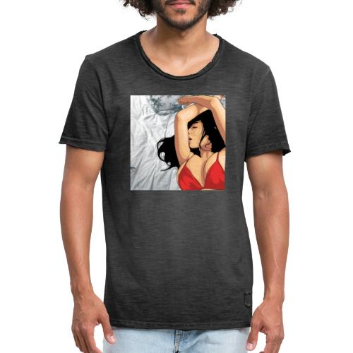 Sleeping Girl - Maglietta vintage da uomo
