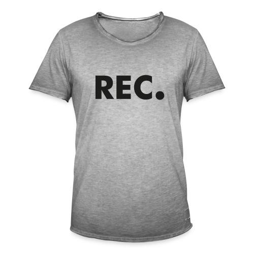 Rec zwart - Mannen Vintage T-shirt