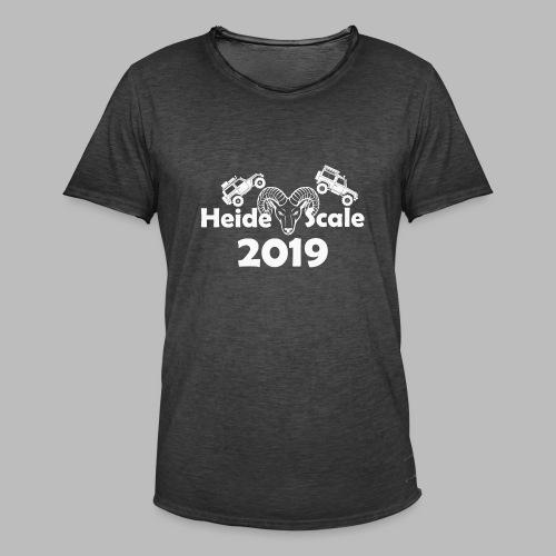 HeideScale 2019 weisser Aufdruck - Männer Vintage T-Shirt