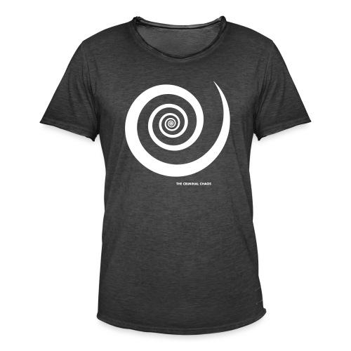 THE CRIMINAL CHAOS - Logo Spirale - Maglietta vintage da uomo
