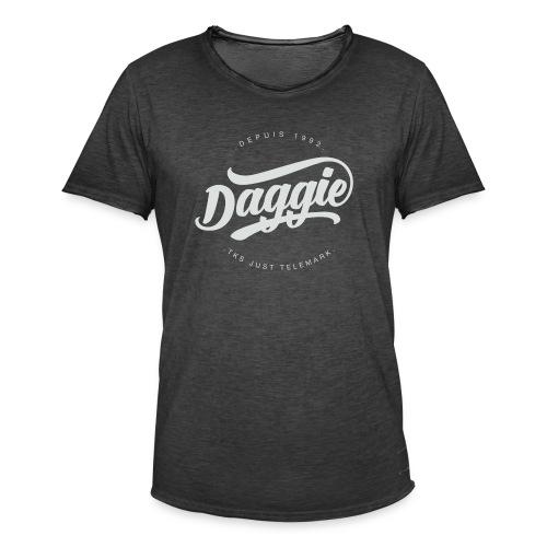 Daggies LOGO Serigraphie blanc - T-shirt vintage Homme