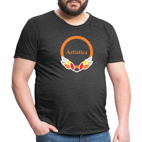 Artistica Kreis kühlen Rahmen - Männer Vintage T-Shirt