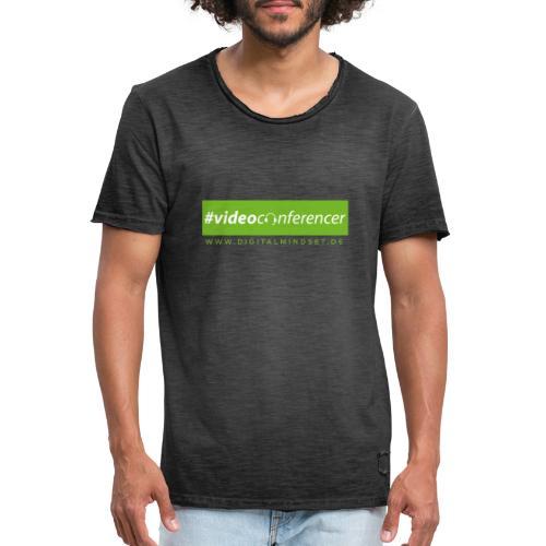 #videoconferencer - Männer Vintage T-Shirt