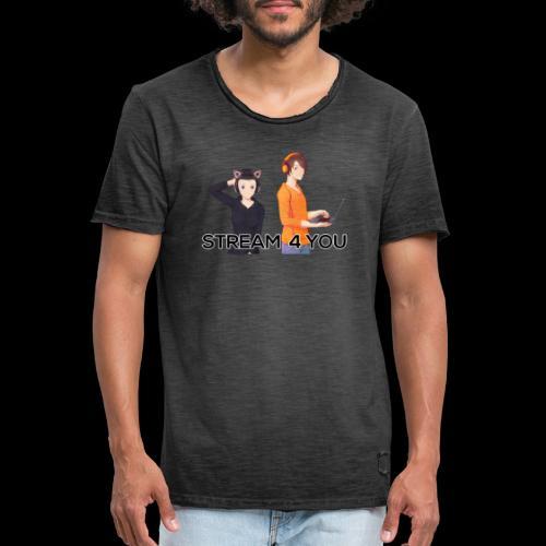 Logo2 0Black 1 - Männer Vintage T-Shirt