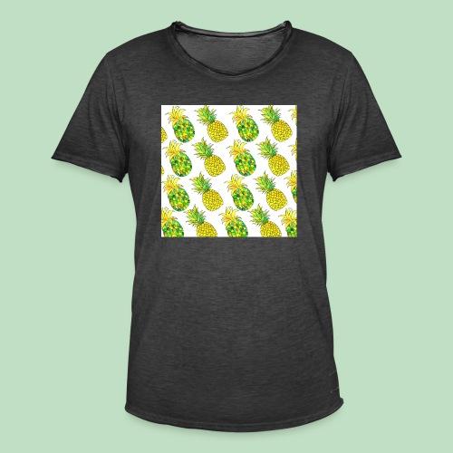 Pineapple Fantasy - Maglietta vintage da uomo