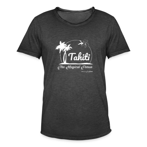 SUNSET Tahiti the magical place - T-shirt vintage Homme