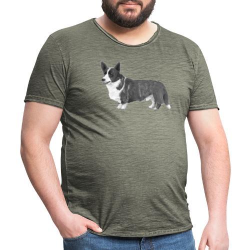 welsh Corgi Cardigan - Herre vintage T-shirt