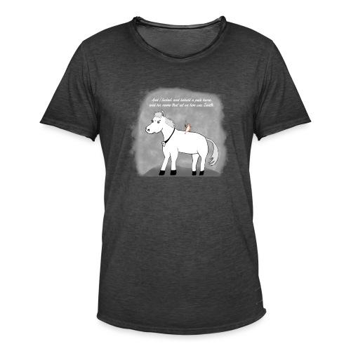 pale white horse. his rider death - Vintage-T-skjorte for menn