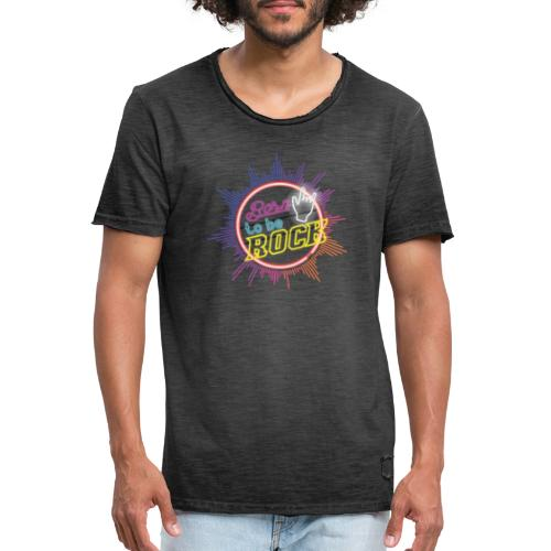 born to be rock - Men's Vintage T-Shirt