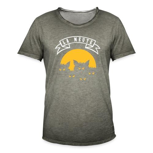 la meute - T-shirt vintage Homme