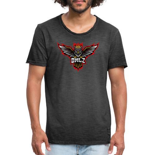 owl 3 - Vintage-T-skjorte for menn