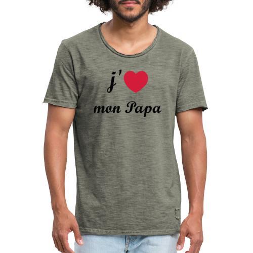 J'aime mon papa - 01 Vecto - T-shirt vintage Homme