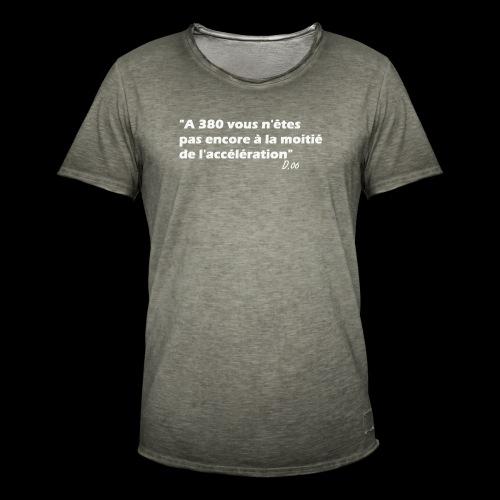 380 (blanc) - T-shirt vintage Homme