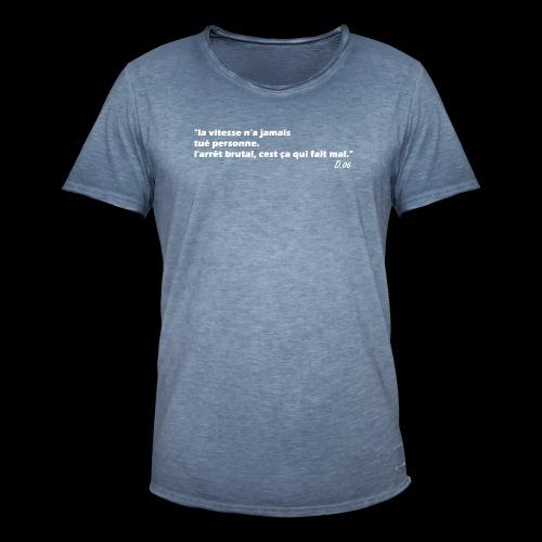 vitesse (blanc) - T-shirt vintage Homme