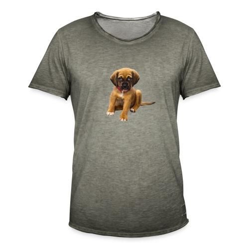 Süsses Haustier Welpe - Männer Vintage T-Shirt